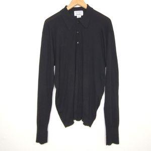 JOHN SMEDLEY Long Sleeve Polo Sweater